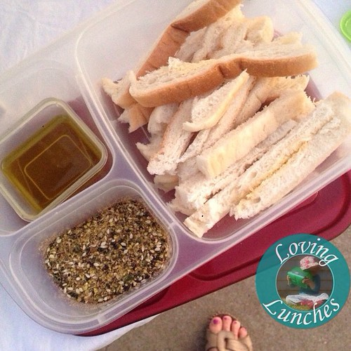 Loving my snack for the twilight Markets tonight… a grown up @easylunchboxes of bread crusts, olive oil and #YIAH dukkah 😍 #easylunchbox #easylunchboxes