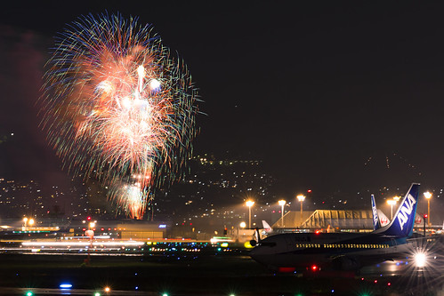 Inagawa Hanabi / Firework Event with airplanes & Osaka Airports (9)