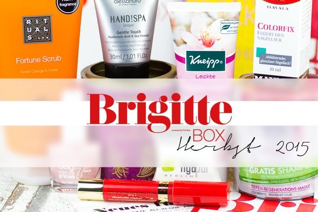 Brigitte Box, Brigitte Box August 2015, Brigitte Box Herbst 2015, Inhalt Brigitte Box