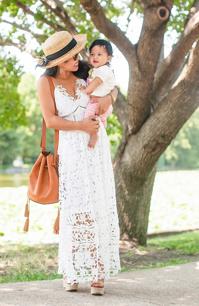 White Crochet Maxi On Trend Tuesdays Linkup Cute