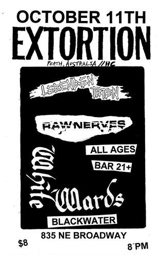 10/11/15 Extortion/LebendenToten/RawNerves/WhiteWards