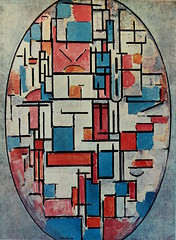 Oval Composition with Bright Colours 1914, oil on canvas, 42 × 31 in (107 × 79 cm) Museum of Modern Art, New York