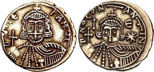 Lot 312 Leo III with Constantine V Solidus