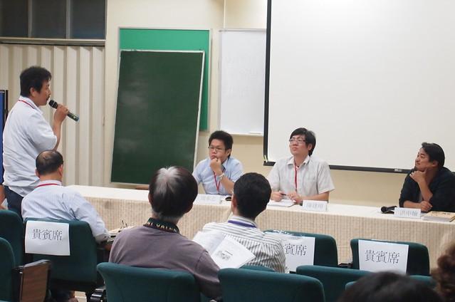 台南社區大學研究發展學會舉辦「再生能源的公民實踐:太陽能」公民論壇。李育琴攝。