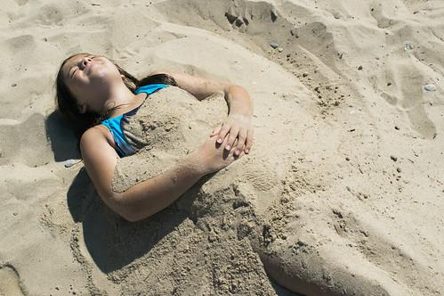 Buried.