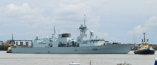 HMCS Winnipeg FFH338 (2) @ Gallions Reach 13-09-15