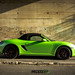 Porsche Boxster Gloss pearl green wrap by DUP_Automotive