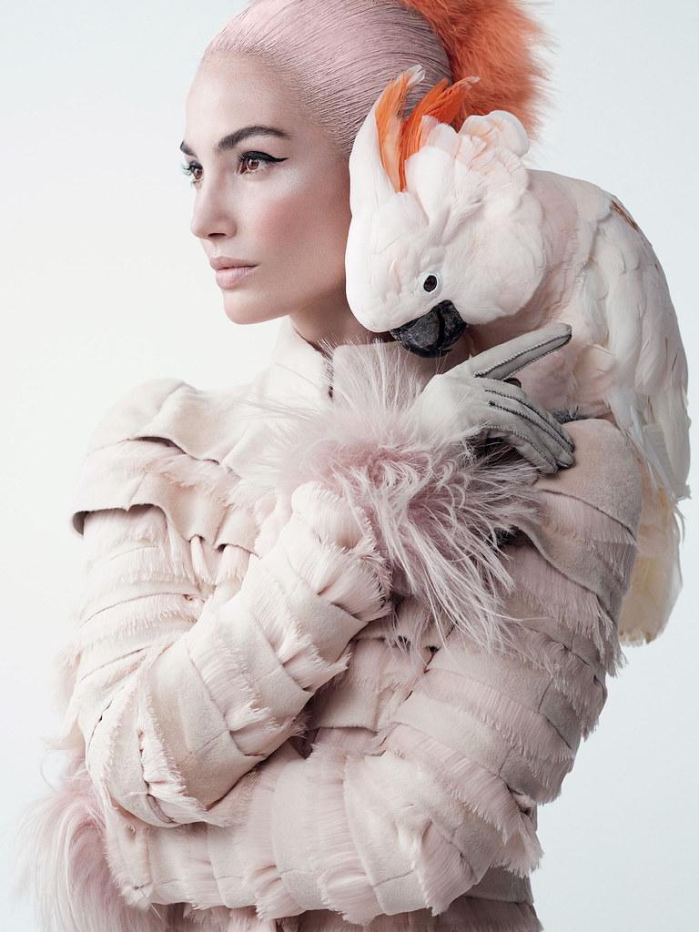 Лили Олдридж — Фотосессия для «Vogue» 2015 – 1