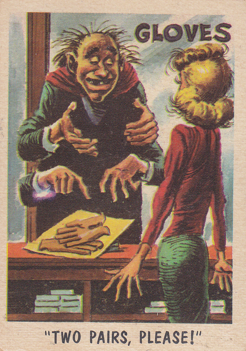 """You'll Die Laughing"" Topps trading cards 1959,  illustrated by Jack Davis (32)"