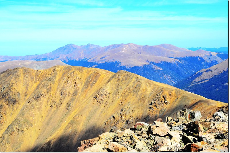 Looking northeast onto James Peak Wilderness from Pettingell's summit