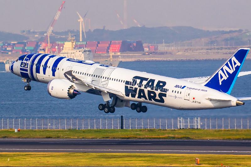 ANA Star Wars Project R2-D2 Boeing 787-9 Dreamliner JA873A