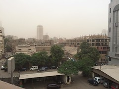 The beginning of a dust storm in #Cairo #Egypt #Citizenjournalism #Blogger #Egyweather #nofilter