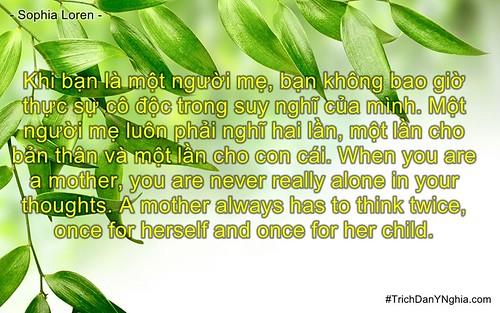 Khi bạn là một người mẹ, bạn không bao giờ thực sự cô độc trong suy nghĩ của