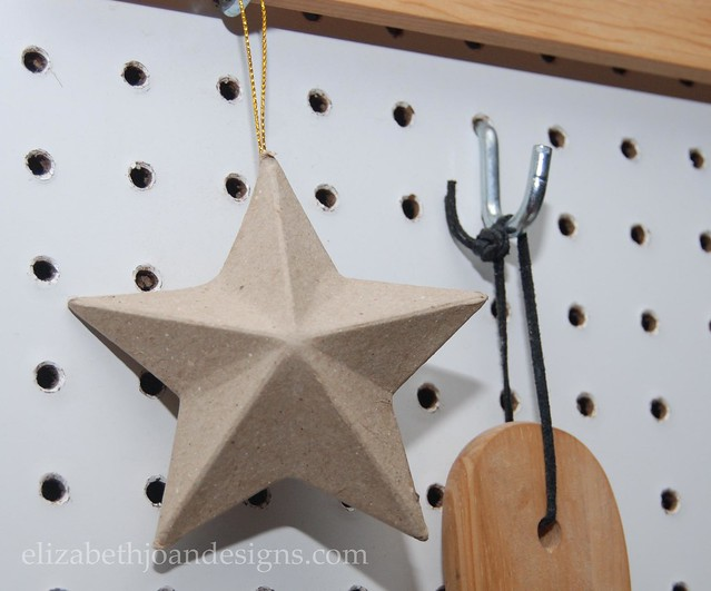 Star Ornament Pegboard decoration