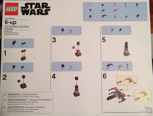 Lego Star Wars The Force Awakens X Wing Fighter Toys R Us Instructions