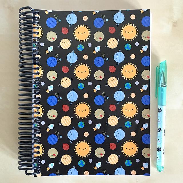 Spiral Bound 5 Year Diary - Solar System