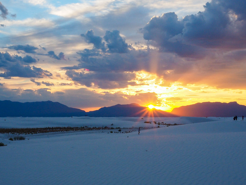 Sunset at White Sands in New Mexico