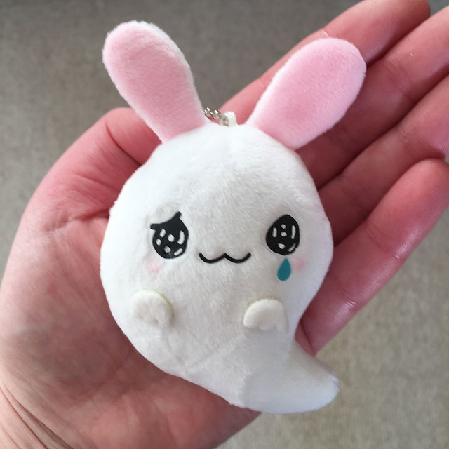 Sister Advent belated Day 23: it's a SAD GHOST BUNNY! All my favourite things in one plush