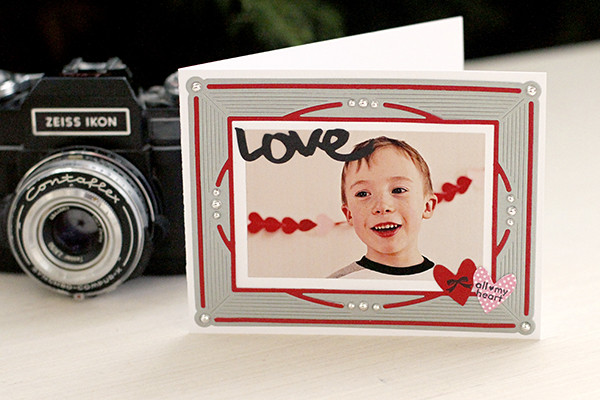 Photo Card Using Papertrey Ink's Charmed Frame