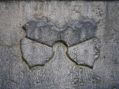 Shields in stone