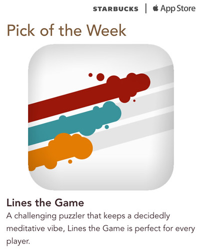 Starbucks iTunes Pick of Week - Lines the Game