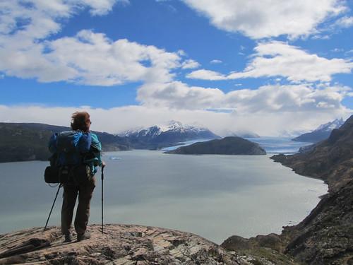 Torres del Paine: trek du W. Jour 5: le Lago et le Glaciar Grey.