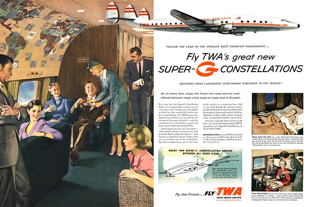 TWA's Super-G Constellations, 1955 ad