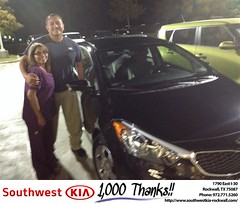 #HappyAnniversary to Manny & Richard and your 2015 #Kia #Forte from Everyone at Southwest KIA Rockwall!