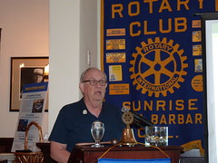 Fred Discussing Ways To Give To The Rotary Foundation