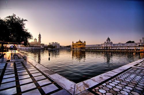 temple goldentemple sikh gurugranthsahib punjab amritsar wideangle lake sunrise peace divine serene