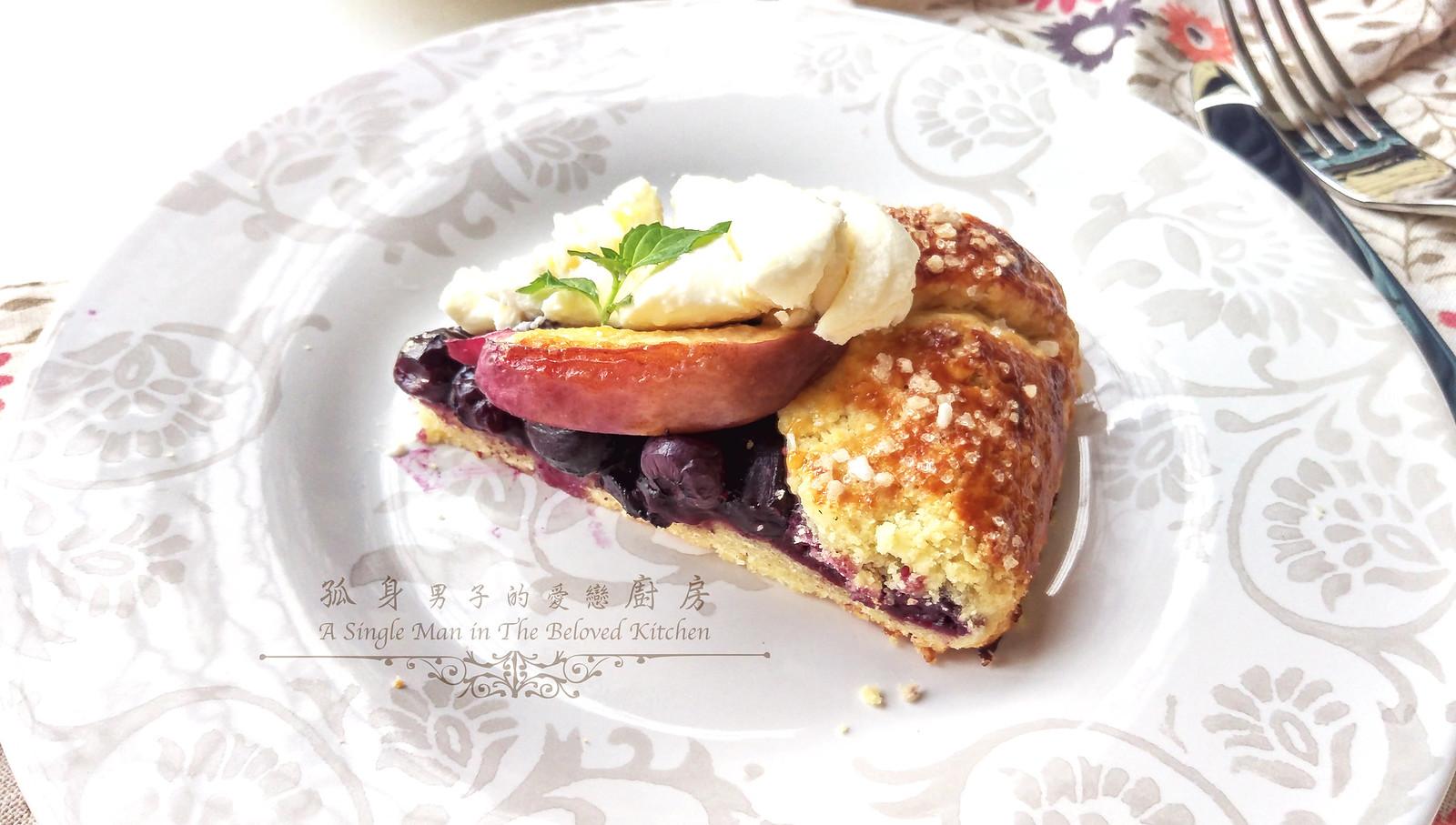 孤身廚房-藍莓甜桃法式烘餅Blueberry-Nectarin Galette35