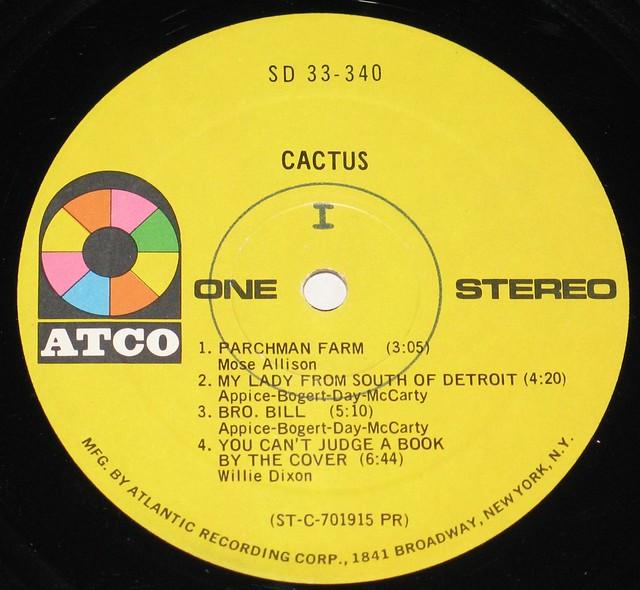 CACTUS S/T SELF-TITLED DEBUT LP