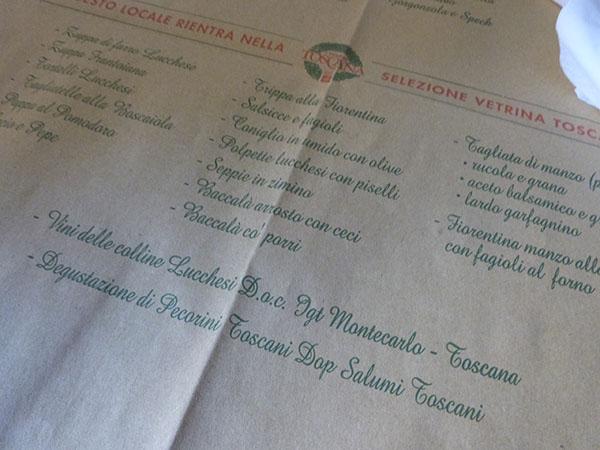 menu petite trattoria