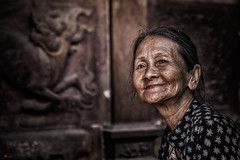 The temple lady