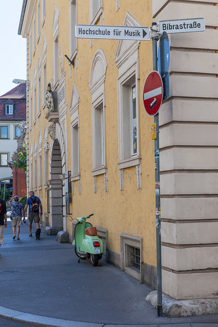 Street photo. Würzburg, Franconia region of Bavaria, Germany