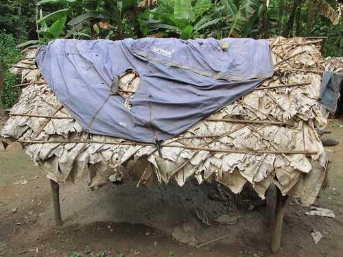 our stolen tent at Likaka