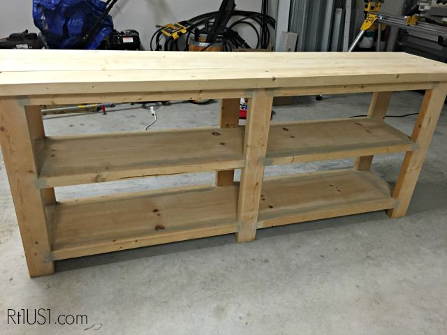 Console table built using plans from ana-white.com