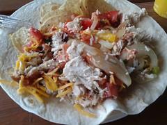 tostada(0.0), carnitas(0.0), pulled pork(1.0), taco(1.0), food(1.0), dish(1.0), cuisine(1.0), burrito(1.0),