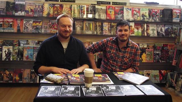 Neil Slorance & Colin Bell signing Forbidden Planet Edinburgh 01