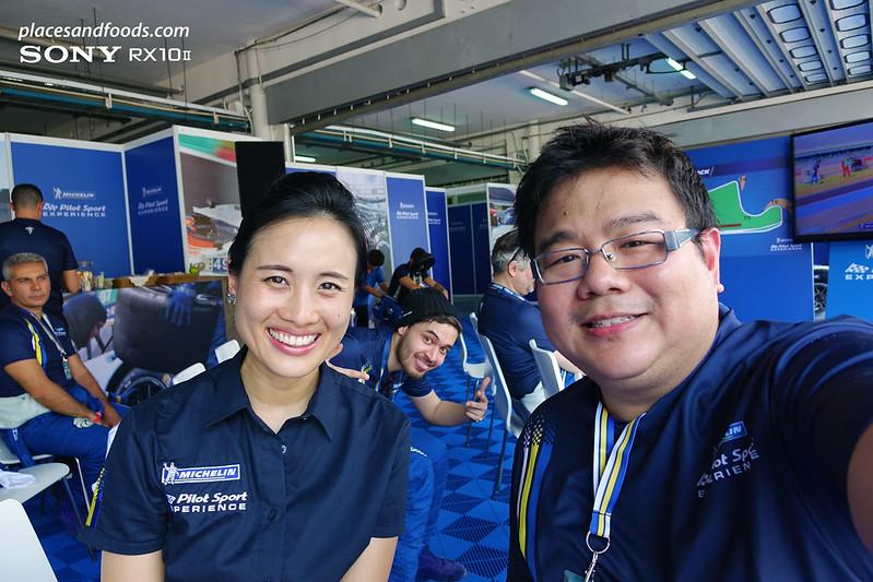 Michelin pilot sport experience selfie