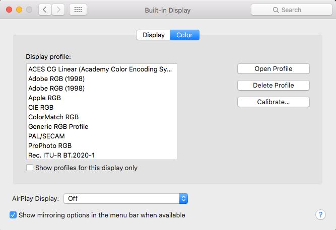 calibrate macbook