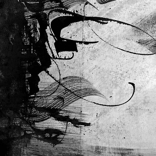 Black and white calligraphy