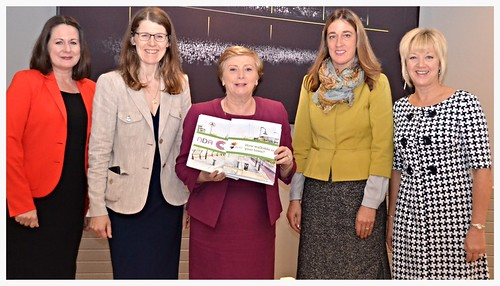 Siobhan Barron Director, NDA, Aisling Costello, Head of Projects Age Friendly Ireland, Minister Frances Fitzgerald, Roslyn Molloy, author of the Walkability Report, Helen Guinan, Chairperson, NDA