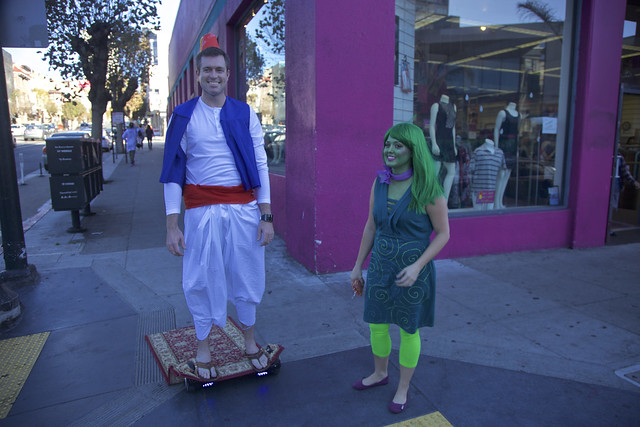 Aladdin on His Flying Carpet