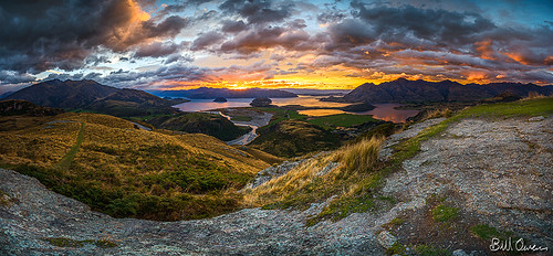 road morning autumn newzealand panorama mountain colour water grass rain clouds forest sunrise island dawn nikon rocks track sheep stitch ninja south smooth rocky peak boulders lee nz nikkor filters wanaka gitzo anzac nodal rrsbh55 nn5 1424mmf28 d800e
