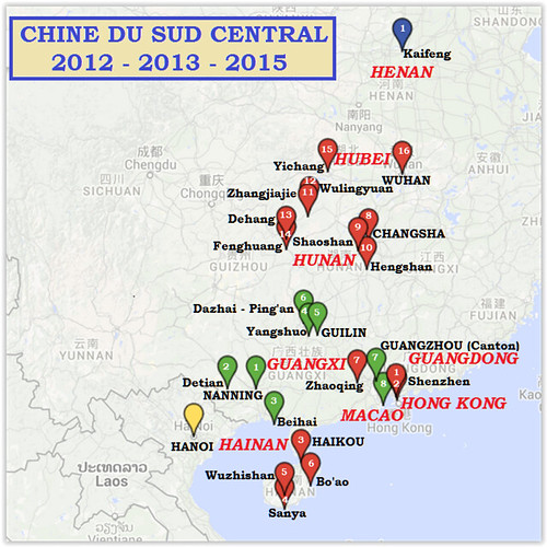 Trajet-Chine Sud central