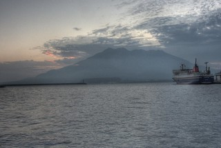 View of Sakurajima in early morning on OCT 24, 2015 (2)