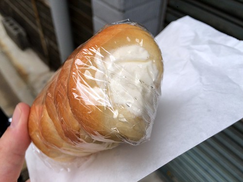 Corne bread with cream from Terasawa Pan shop @ Asakusa