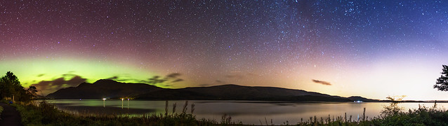 Aurora Borealis over Ben Lomond