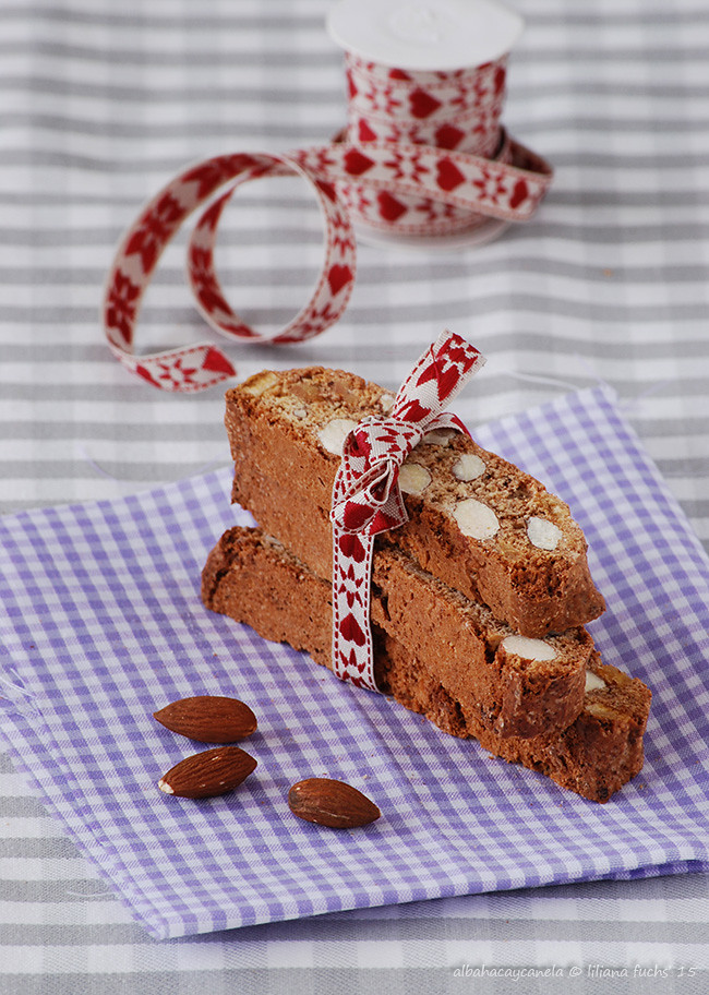 Almond orange chocolate biscotti